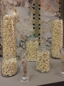 The popcorn table