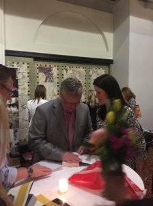 Jonas Jonasson signing his books